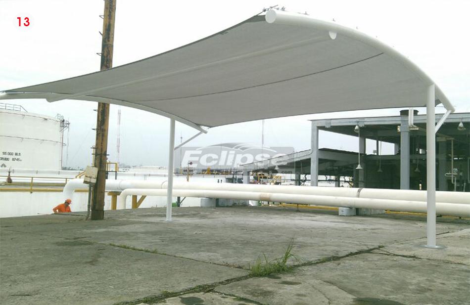 Eclipse cubiertas mallasombra tensoestructuras velarias for Carpas para coches